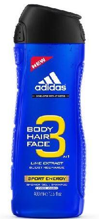 Adidas 3in1 Sport Energy Sprchový gel 400 ml M