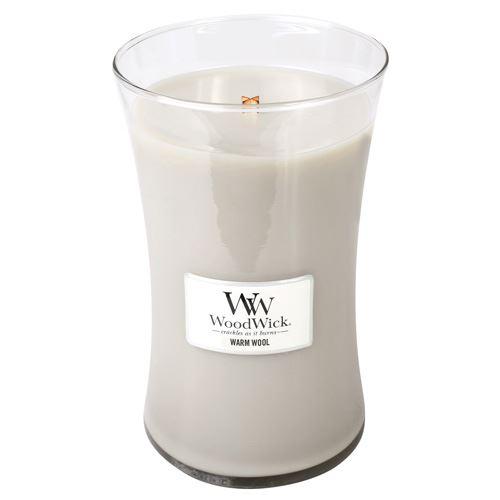 WoodWick Warm Wool lumânări parfumate 609 g