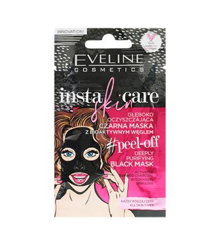 Eveline Cosmetics Insta Skin Care hluboce čistící slupovací maska s bioaktivním uhlím 10 ml