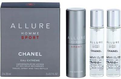 Chanel Allure Homme Sport Eau Extreme EDT 3x20ml Pentru bărbati sticlă reîncărcabilă