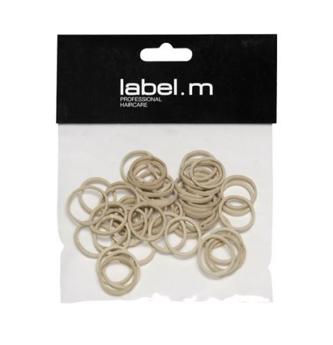 label.m No Pull Braiding Bands Beige 15mm (50)/Kroužek béžový 15mm 50ks