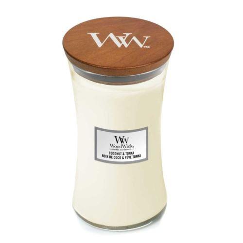 WoodWick Coconut & Tonka vonná svíčka 609,5g