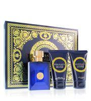 Versace Dylan Blue Pour Homme toaletní voda Pro muže 50 ml + sprchový gel 50 ml + balzám po holení 50 ml